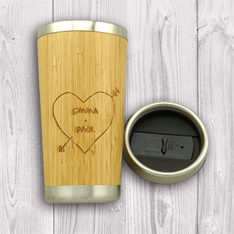 Wooden Bamboo Travel Mug
